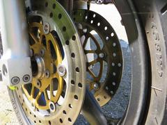 Double disc brakes of a motorcycle Kuvituskuvat