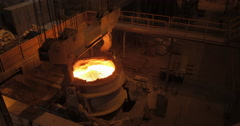 Production Of Iron And Steel (4K) Stock Footage