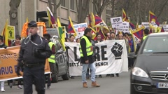 march to support in Lebanon - stock footage