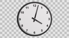 Clock timer alpha - stock footage