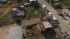 People Receive Food and Water in San Pedro San Pablo after Earthquake Stock Footage
