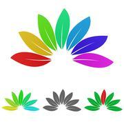 Nature logo vector set Stock Illustration