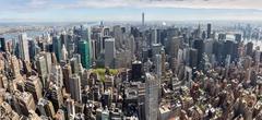 New York City Manhattan midtown panorama - stock photo