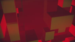 Way through a space made up of blocks Stock Footage