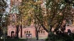 Church of St. Bobola in Bydgoszcz, Poland Stock Footage