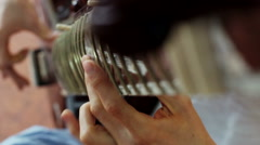 Indian music. Musician playing a musical instrument - sitar Stock Footage