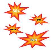 Icons explosion - stock illustration