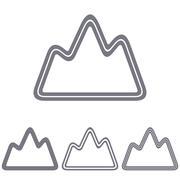 Grey line exploration logo design set - stock illustration
