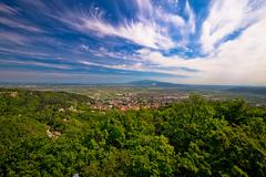 Town of Samobor aerial view Stock Photos