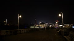 Sopot Pier - pier in city of Sopot, Poland Stock Footage