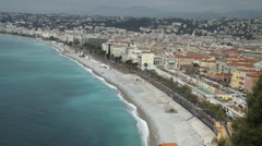 City view Cote d'Azur Nice France Stock Footage
