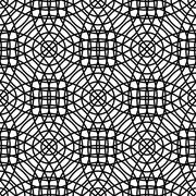 Repeating monochrome abstract cirlce grid pattern - stock illustration