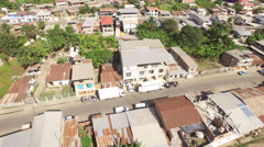 Aerial View of Tosagua, Ecuador Stock Footage