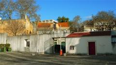 Monastery of Sao Vicente de Fora in Lisbon Stock Footage
