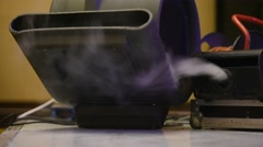 Smoke machine in action Stock Footage