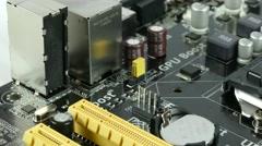 Computer Main Board, Motherboard 4K Footage Stock Footage