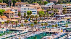 Port de Solle, Mallorca, Balearic Islands, Spain Stock Footage