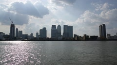 London and Thames River: corporations - stock footage