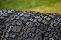Car tires - stock photo