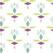 Colorful geometric diamond pattern Stock Illustration