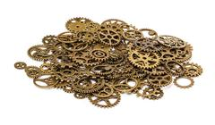 Vintage Mechanical Cogwheel Gears Wheels Stock Photos