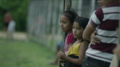 Kids standing together in park, Guatemala Arkistovideo