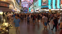 Time lapse-Crowds under the bright lights of Fremont Street Experience Las Vegas - stock footage