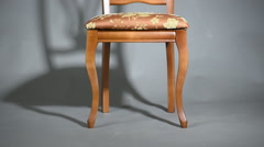 Wooden chair and Chair Shadow - stock footage