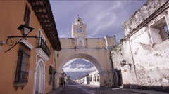 Archway of Antigua Guatemala, Guatemala - stock footage