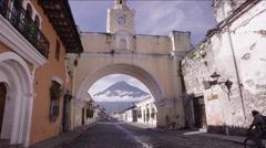 Archway of Antigua Guatemala, Guatemala - stock footage