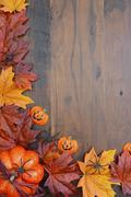 Happy Halloween Wood Background with Copyspace. - stock photo