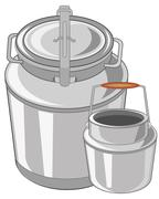 Can and flask - stock illustration