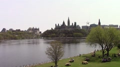 Parliament and Ottawa Stock Footage