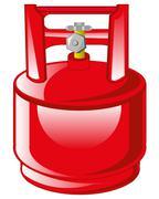Red gas balloon - stock illustration