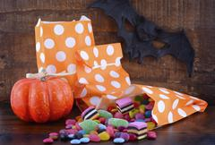 Halloween Candy Trick or Treat Bags - stock photo