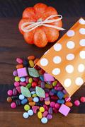 Halloween Party Trick of Treat Candy - stock photo
