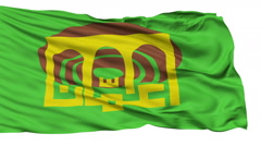 Amman City Isolated Waving Flag - stock footage