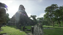Temple of the Masks in Tikal National Park, Guatemala Stock Footage