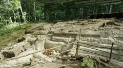 View of ruins at Tikal National Park, Guatemala Stock Footage