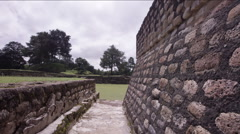 Stone wall at Tikal National Park - stock footage