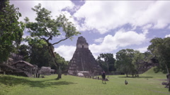 Temple of the Masks in Tikal National Park, Guatemala - stock footage