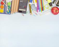 Back to school - illustration with copyspace Stock Illustration