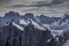Snowy Mont Blanc in Alps, France Stock Photos