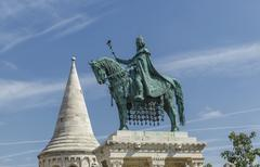 Fishermans Bastion statue in Budapest, Hungary Stock Photos