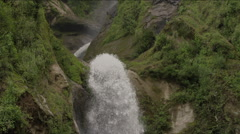 View of beautiful waterfall in forest, Guatemala - stock footage
