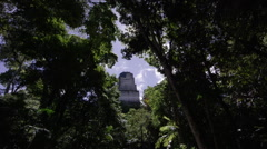 Temple of the Two-headed snake at Tikal National Park, Guatemala - stock footage