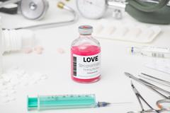 Alternative medicine for love Stock Photos