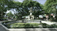 View of fountain in Plaza Central, Guatemala Stock Footage