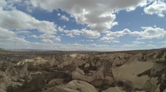 Timelapse Clouds at Rock Landscape Cappadocia Nevsehir Turkey Stock Footage