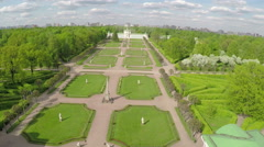 Aerial shot of Tsaritsyno Park in summer Stock Footage